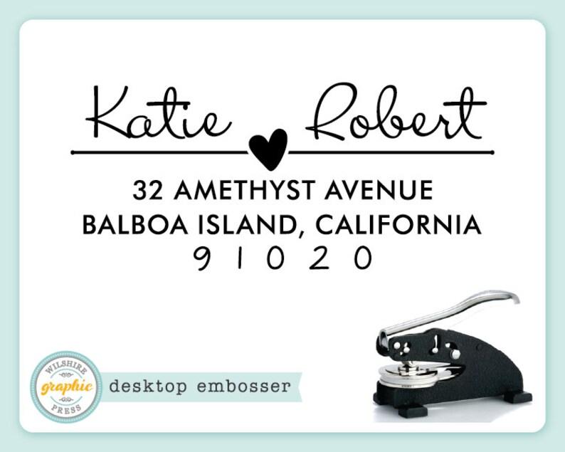 Desktop Embosser  KATIE Style  Personalized Return Address image 0