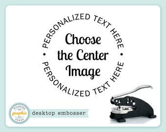 Desktop Embosser - CHOOSE THE IMAGE Style - Personalized Text Embosser or Extra Plate - Choose From Over 200 Images