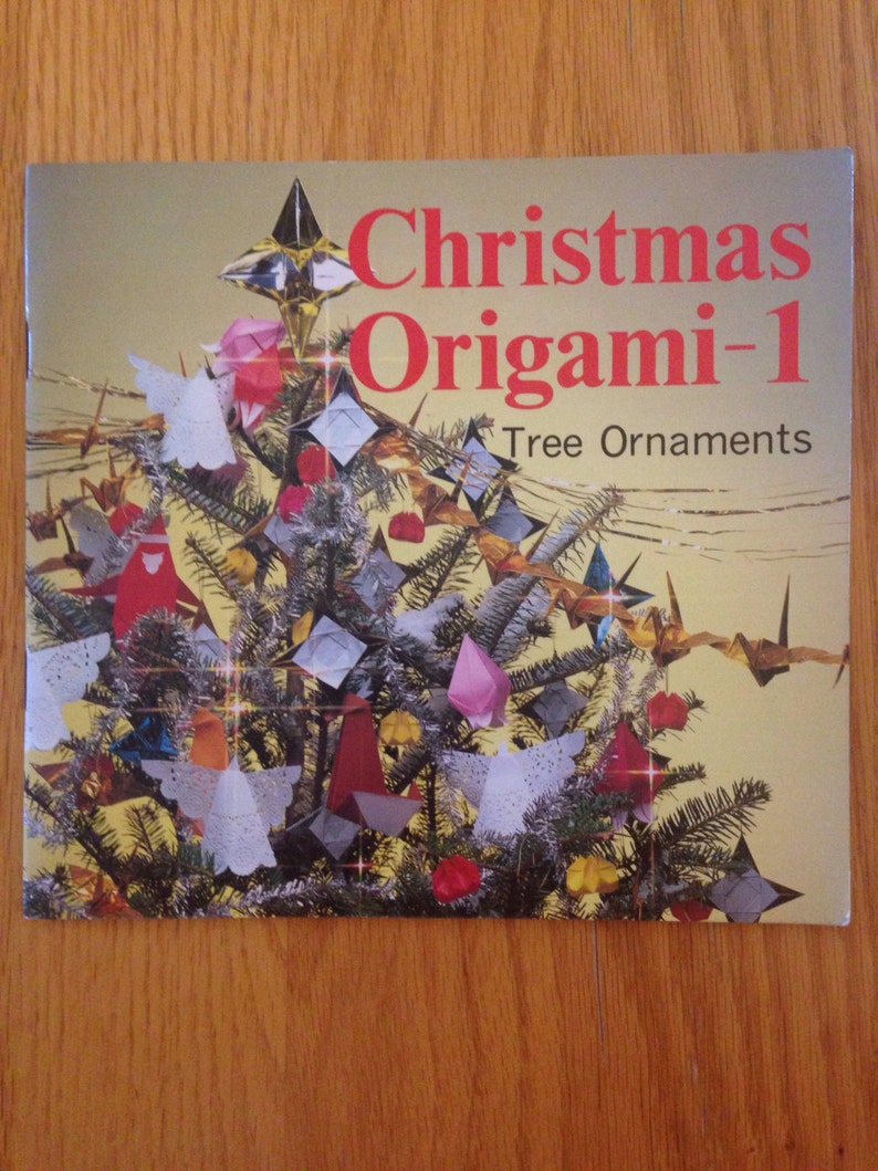 Amazing Vintage Christmas Origami Book Number 1 Tree Etsy Wiring 101 Mecadwellnesstrialsorg