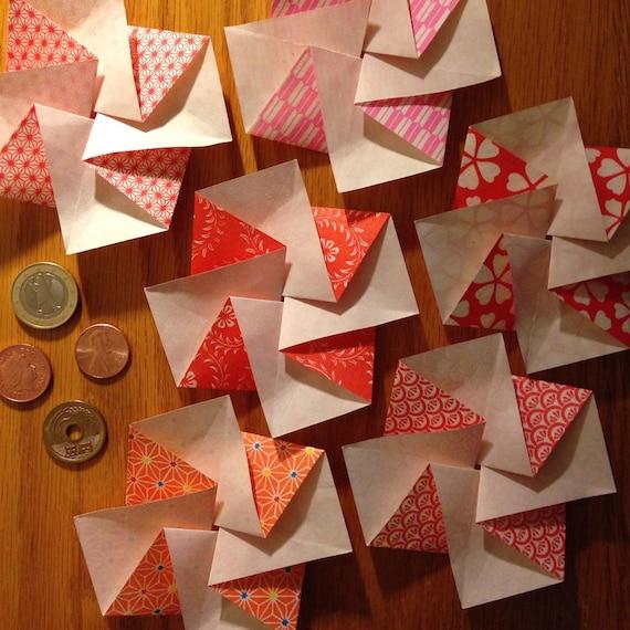 Six japanese flower blossom tato origami envelopes or flat etsy image 0 mightylinksfo