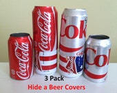 Hide A Beer Can Cover Disguise Soda Sleeves Wrap Golf Boat Fish Tailgating Pool