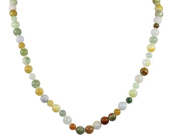 Multi Colored Jade Necklace