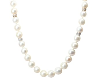 off Round White Freshwater Pearls, 19 inchPearls-To-die-for Pearl Necklace, for Her, Wedding, June Birthstone