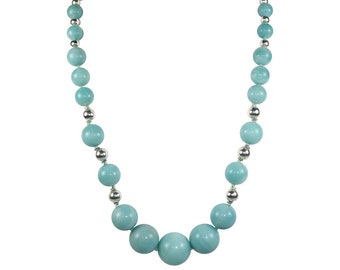 Amazonite Graduated Bead Necklace