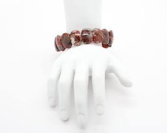 Brecciated Jasper Cab Bracelets
