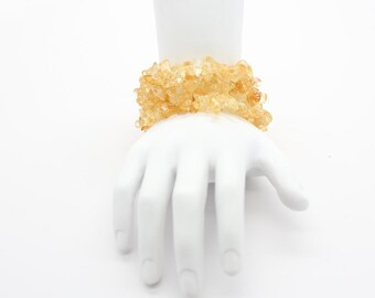 Citrine Stretch Bracelet, Citrine Jewelry, Stackable Bracelets, Meditation Bracelet, Yoga Jewelry, Stacking Bracelet