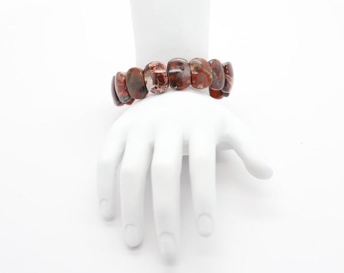 Featured listing image: Brecciated Jasper Cab Bracelets