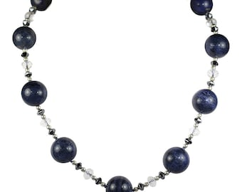 Natural Dumortierite Stone Necklace, Starry-starry Night
