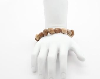 Picture Jasper Pebble Bracelet, Jewelry, Stackable Bracelets, Gemstone, Jewelry Gift, Meditation, Yoga Jewelry-Stone Stacking Bracelet