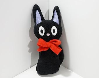 Jiji Plush, Kiki's Delivery Service Plush, Studio Ghibli, Black Cat Plushie