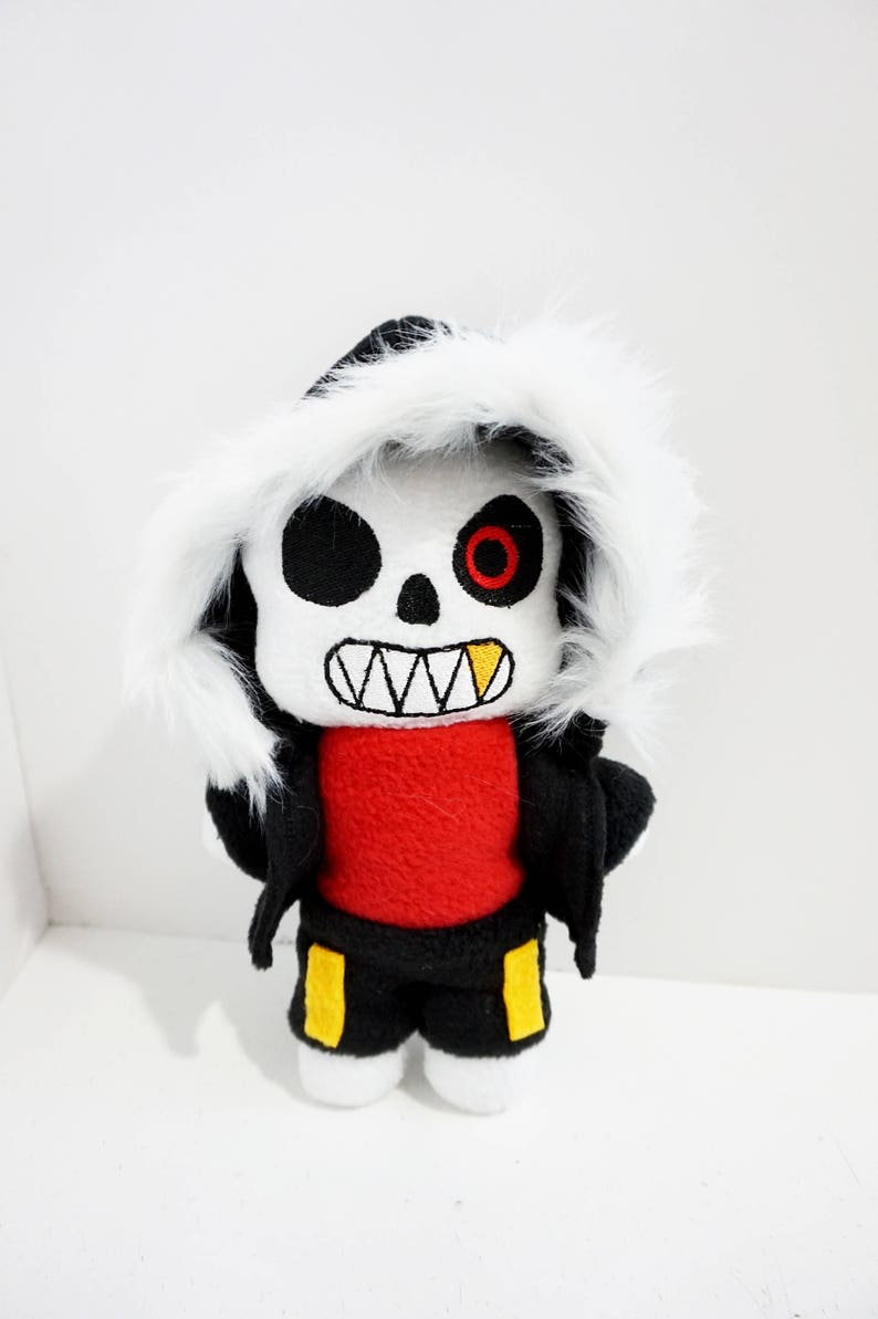 Underfell Sans Plush Inspired by Undertale 9 Inches Tall (Unofficial)  Pocket Size!!