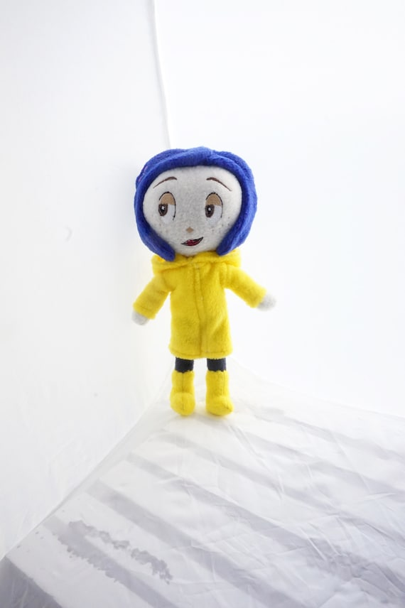 Coraline Doll Plush Inspired By Coraline Movie Coraline Cat Etsy