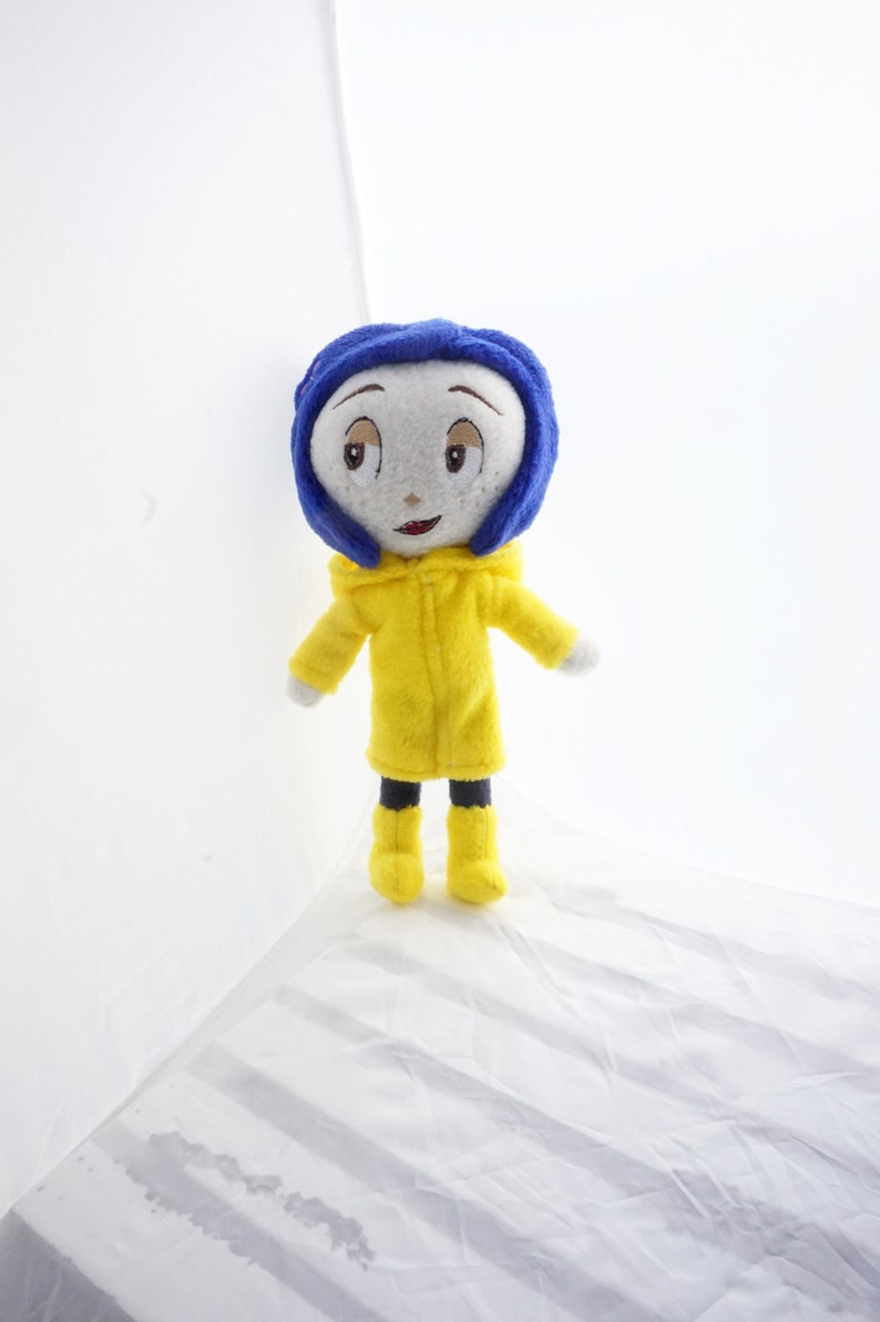 Coraline Doll Plush Inspired by Coraline Movie, Coraline Cat Plush  (Unofficial)