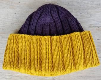 Berretto a maglia   lana Cap   Watch Cap   a costine Cap   militare  berretto a maglia   US Navy Watch Cap   cappello maglia uomo   Beanie    Purple cappello ... 58bdcfa4bf69