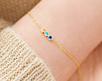 Family Birthstone Bracelet, Birthstone Bracelet for Mom, Birthstone Mom Bracelet, Mothers Day Gift, Gold Bracelet Birthstone