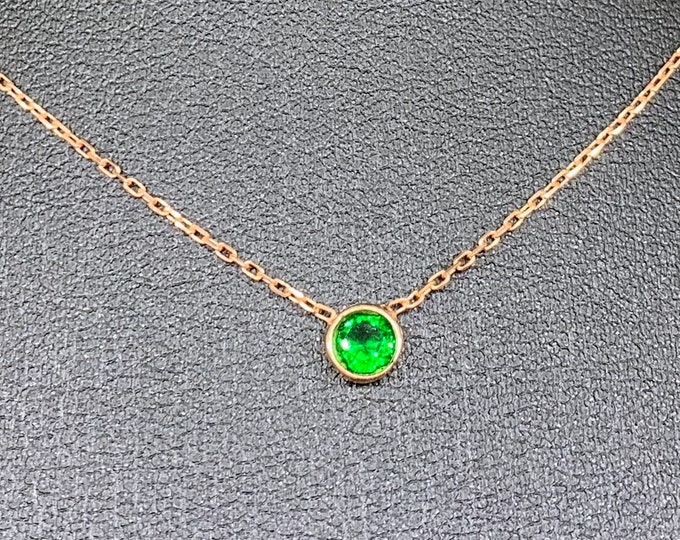 """Emerald Necklace, Aquamarine Necklace, Family Tree, Birthstone Mother Necklace, Mom Necklace, Grandma Necklace, Mothers Day Gift, 0.20"""""""