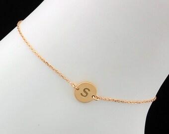 Gold Anklet Bracelet, Silver Anklet, Personalized Anklet, Everyday Anklet, Delicate Anklet, Thin Ankle Bracelet, Dainty Anklet, Anklets, Kay