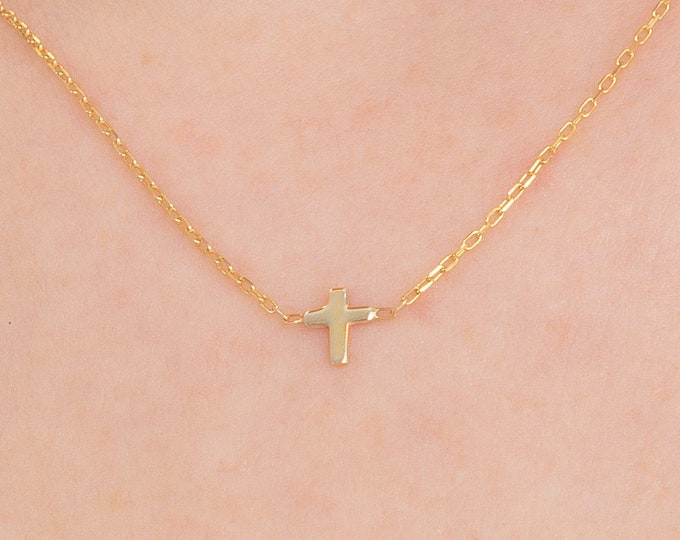 Dainty Cross Necklace, Small Silver Cross Necklace, Tiny Cross Necklace, Gold Cross Necklace, Small Cross Necklace, Mothers Day Gift
