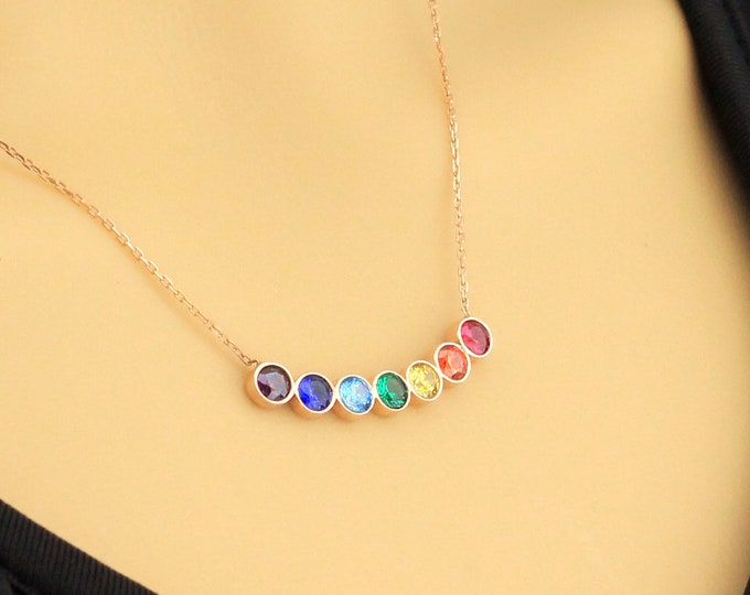 Chakra Necklace, Chakra Jewelry, Chakra Pendant, 7 Chakra Necklace, Yoga Necklace, Crystal Necklace, Chakra Necklace for Women, Chakra