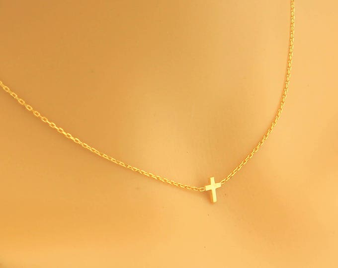 Dainty Cross Necklace, New Style Cross, Cross Necklace, Dainty Necklace, Gold Cross Necklace, Small Cross Necklace, Minimalist Tiny Necklace