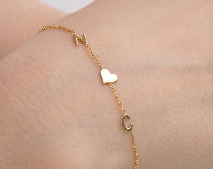 Letter Bracelet, Couples Bracelet, Letter Initial Bracelet, Bridesmaid Bracelet, Custom Letter Bracelet, Sorority Bracelet, Mothers Day Gift