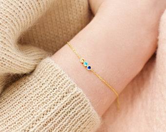 Birthstone Bracelet, Family Birthstone Bracelet, Dainty Bracelet, Birthstone Bracelet, Gold Bracelet, Birthstone Gifts, Mothers Jewelry,