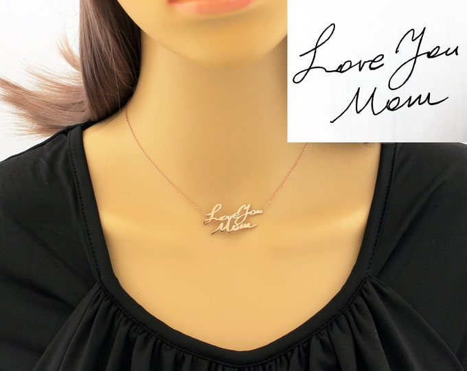 Handwriting Necklace / Memorial Signature Necklace / Signature Necklace / Memorial Necklace / Signature Jewelry / Custom Handwriting / Gift