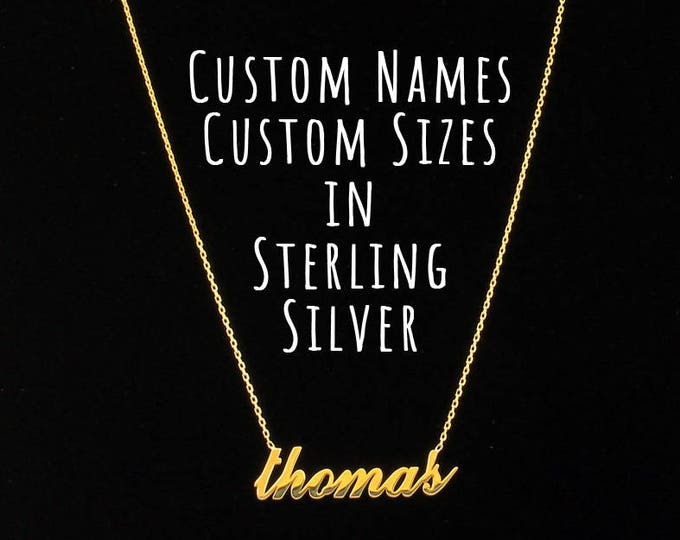 Personalized Name Necklace / Personalized Jewelry / Dainty Name Necklace / Custom Name Necklace / Customized Jewelry / 925 Sterling Silver