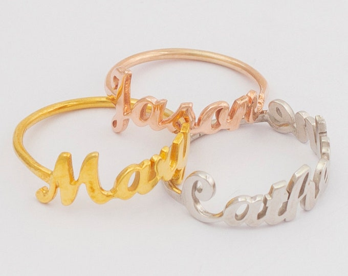 Name Ring, Dainty Ring, Personalized Rings, Name Jewelry, Stacking Name Rings, Stack Rings, Ring With Name, Custom Rings, Christmas Gift