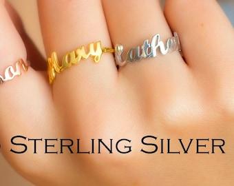Dainty Name Ring, Name Ring, Custom Name Ring, Personalized Ring, Monogram Ring, Custom Word Ring, Name Rings, Valentine's Gift