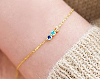 Birthstone Bracelet, Family Birthstone Bracelet, Dainty Bracelet, Birthstone Bracelet, Gold Bracelet, Birthstone Gifts, Mothers Jewelry