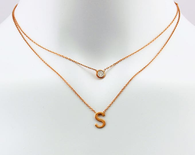 Personalized Necklace, Initial Necklace, Layered Necklace, Birthstone Necklace, Multi Strand, Best Selling Items, Best Selling, Double Chain
