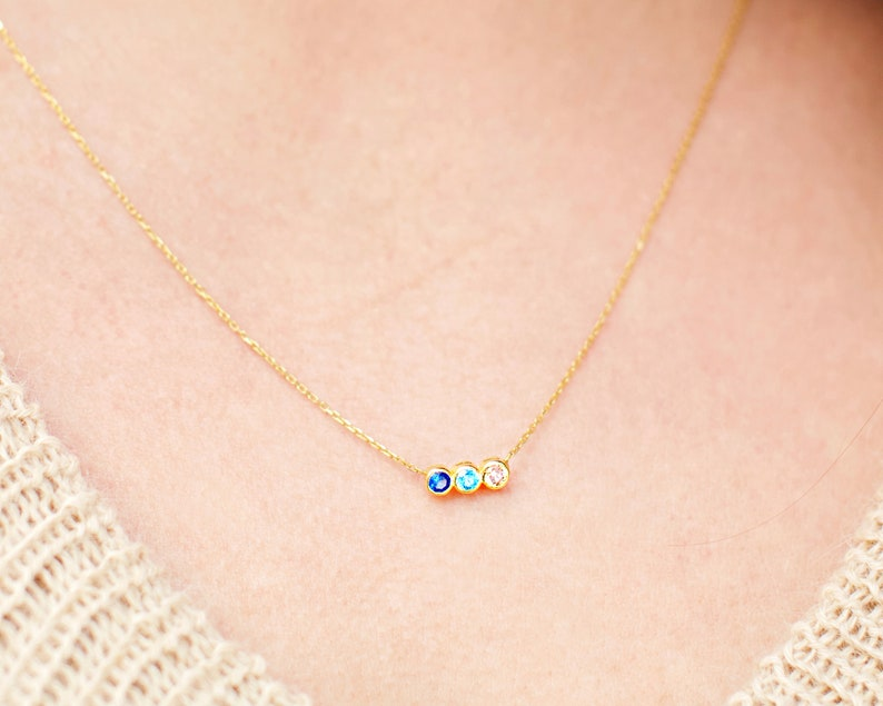 3b10ac9829e86 Family Birthstone Necklace, Birthstone Necklace, Dainty Necklace, Mothers  Necklace, Birthstone Gifts, Gifts for Mothers Jewelry