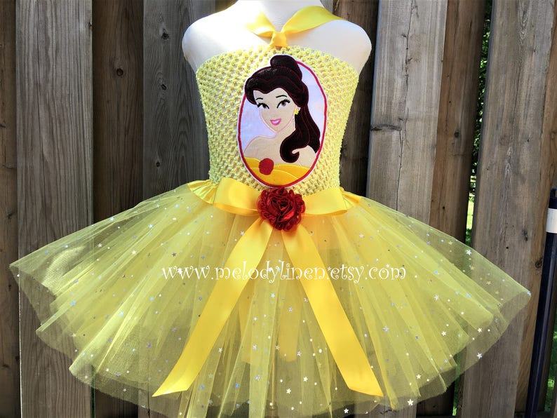 b4d3b82f3634f Belle tutu Beauty and the Beast tutu dress set Belle outfit   Etsy