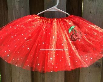 Cherry tutu Cherry sparkle tutu red sparkle tutu party tutu cherry love tutu 1st birthday tutu baby tutu party tutu cherry skirt patch