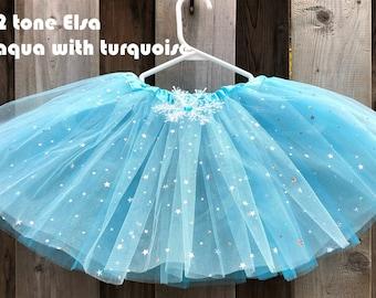 3 layers Frozen Tutu frozen birthday outfit frozen party favors snowflake tutu Elsa tutu olaf tutu Elsa dress Anna tutu aqua blue tutu