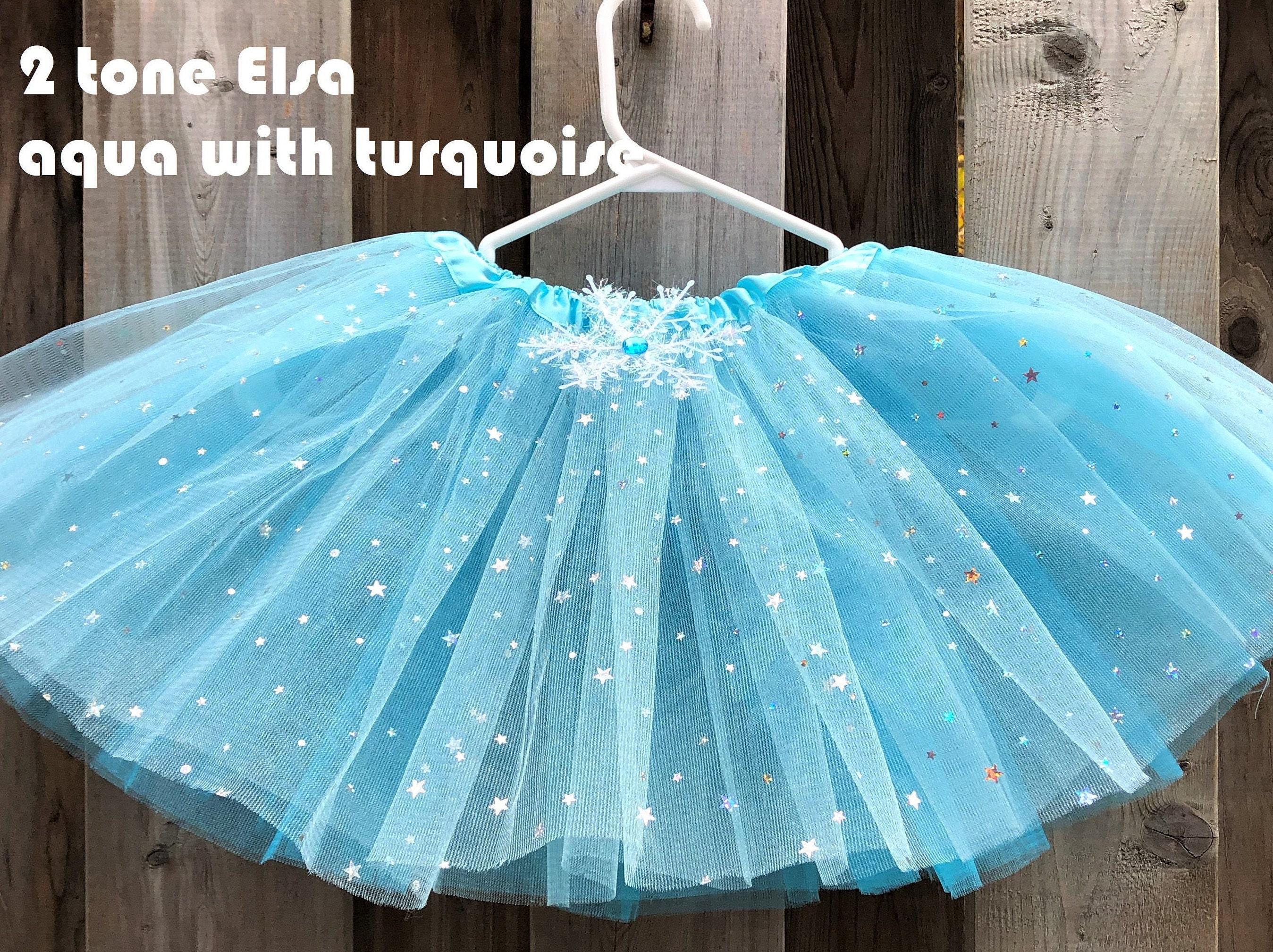 Frozen Elsa Personalized Birthday Tutu Outfit Blue Party Dress Set snowflake