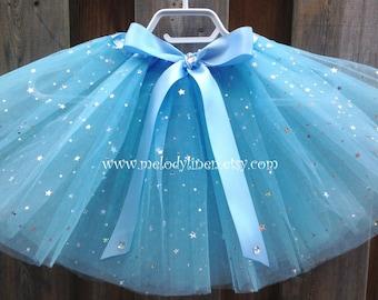 4 layers Tutu Cinderella tutu, birthday party favor,princess tutu,Cinderella light blue tutu,serenity tutu,Cinderella birthday tutu outfit