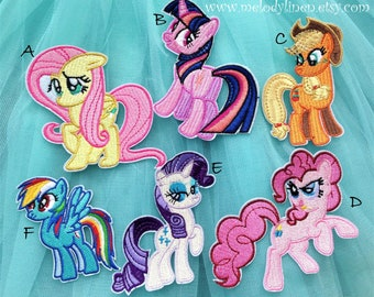 My Little Pony Embroidery iron on patch twilight sparkle Iron on Embroidery Patch Friendship is magic iron on and spike iron on