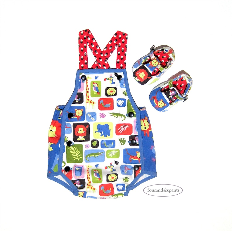 b54c7714570d Baby Romper Newborn baby baby shoes Jungle animals red
