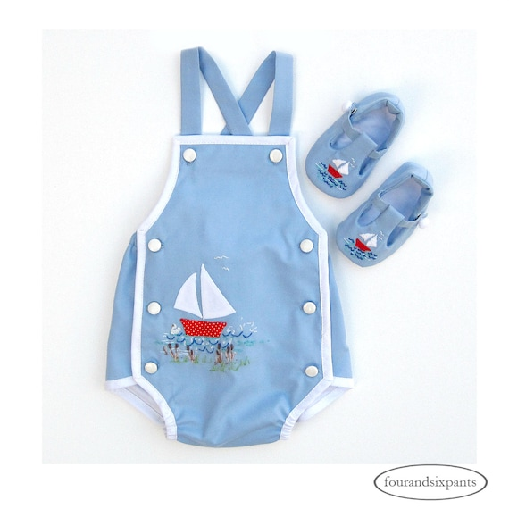 7afb4bc810e8 Baby boy romper romper and shoes romper set embroidered