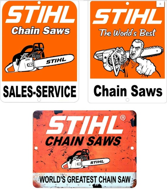 STIHL CHAIN SAWS  CUSTOMISED PERSONALISED   METAL TIN SIGN POSTER WALL PLAQUE
