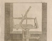 1782.ASTRONOMY From The Historical Encyclopedia of DIDEROT.Tools of astronomy Intaglio Antique copper engraving.8.2x6.2 ins,21x16 cm.