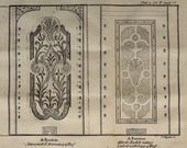 Gardens 1743.Antique copper engraving.Natural History. quot Nature Display 39 d quot .Parterre Antique print.Copper plate.8.2x6.4 inches-20x17,5 cm.