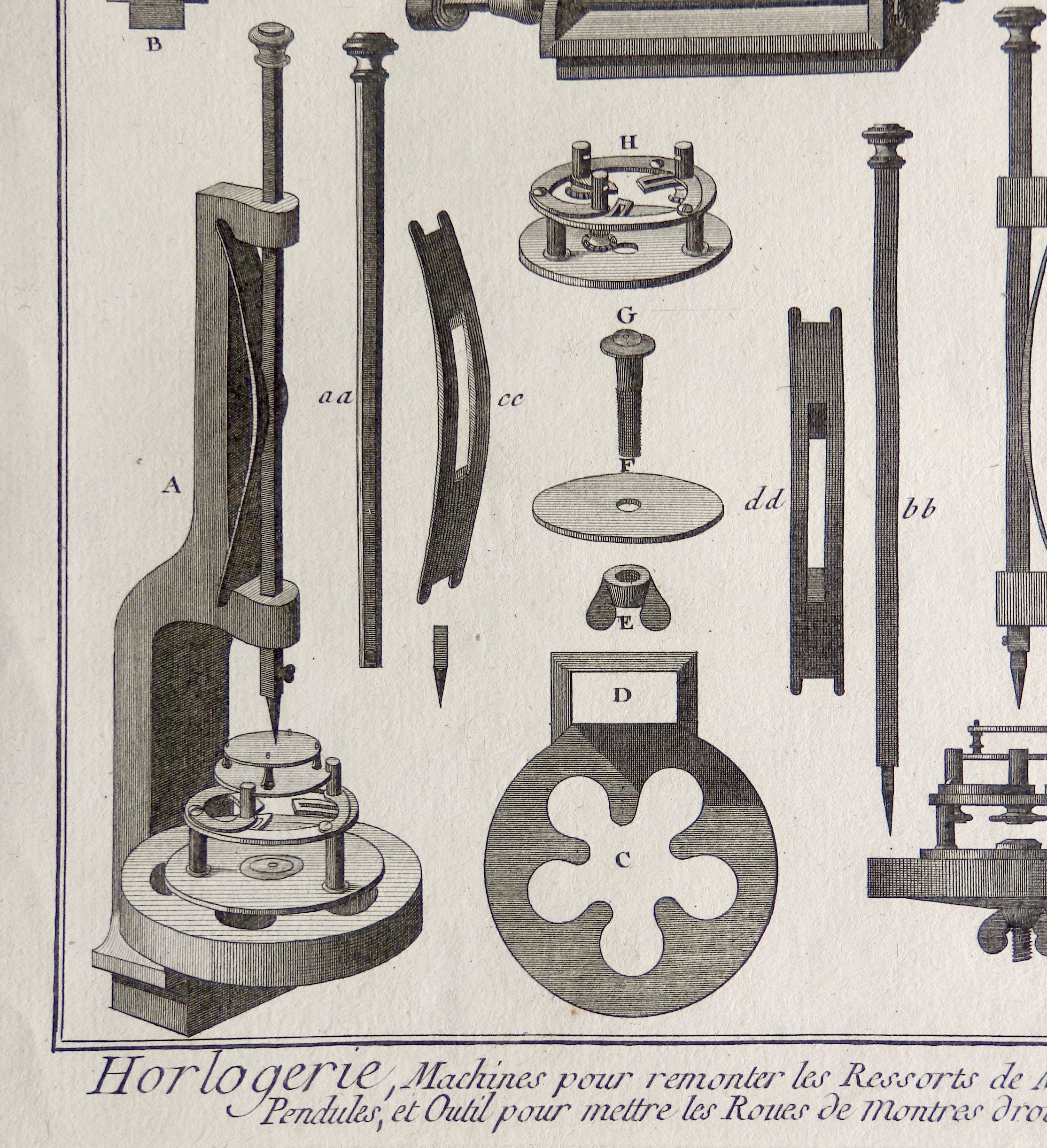 1784.Antique print.Engraving.Intaglio.12,1x9 inches or 31x23 cm.PRINTER,tools Panckoucke.230 year old.Copper engraving.