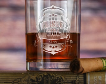 Whiskey Girl Personalized Rocks Glasses, Single Glass