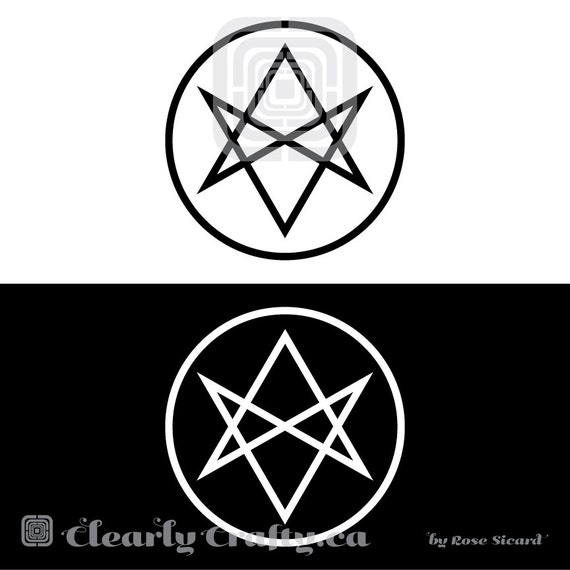 Aquarian Star Men Of Letters Symbol Decal Small Black Or White