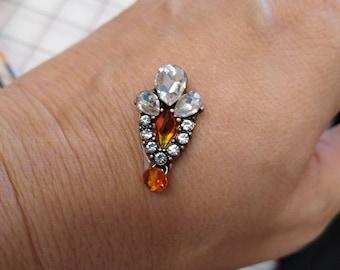 Orange Swarovski Crystal Bindi