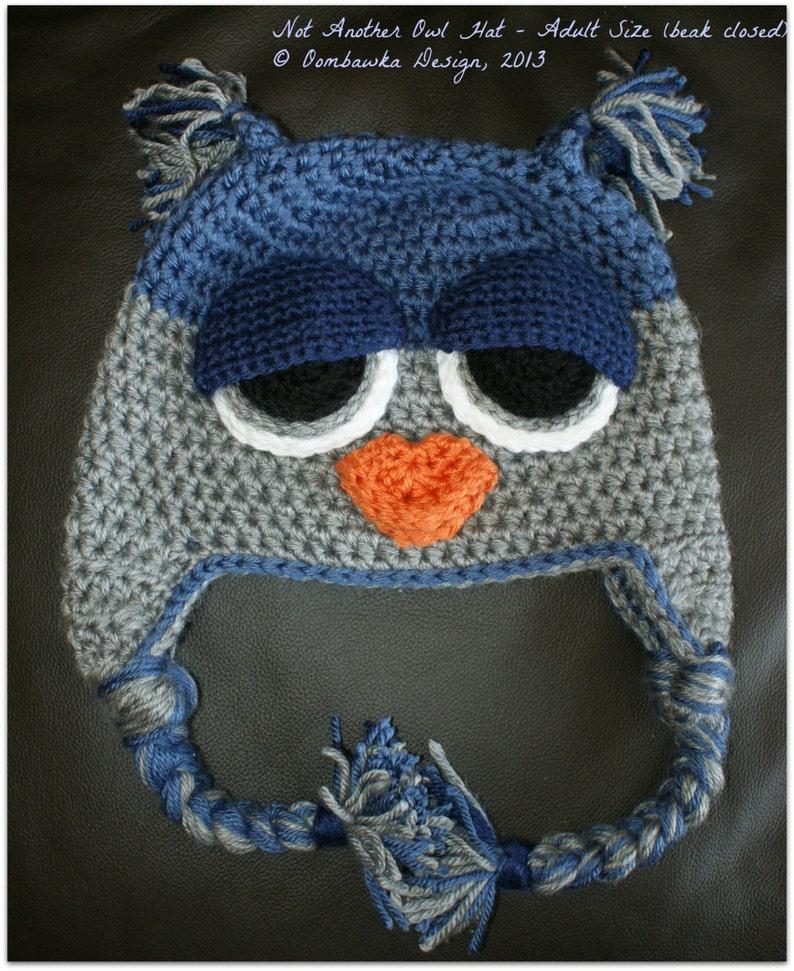 7c7f184082b CROCHET PATTERN  Not ANOTHER Owl Hat Crochet Pattern. Child