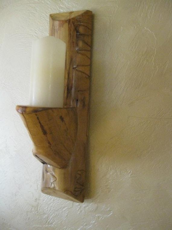 Aspen Log Wood Wall Sconce